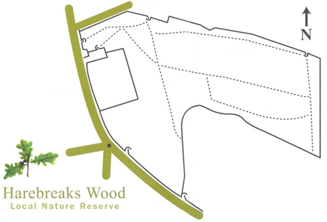 Map of Harebreaks Wood